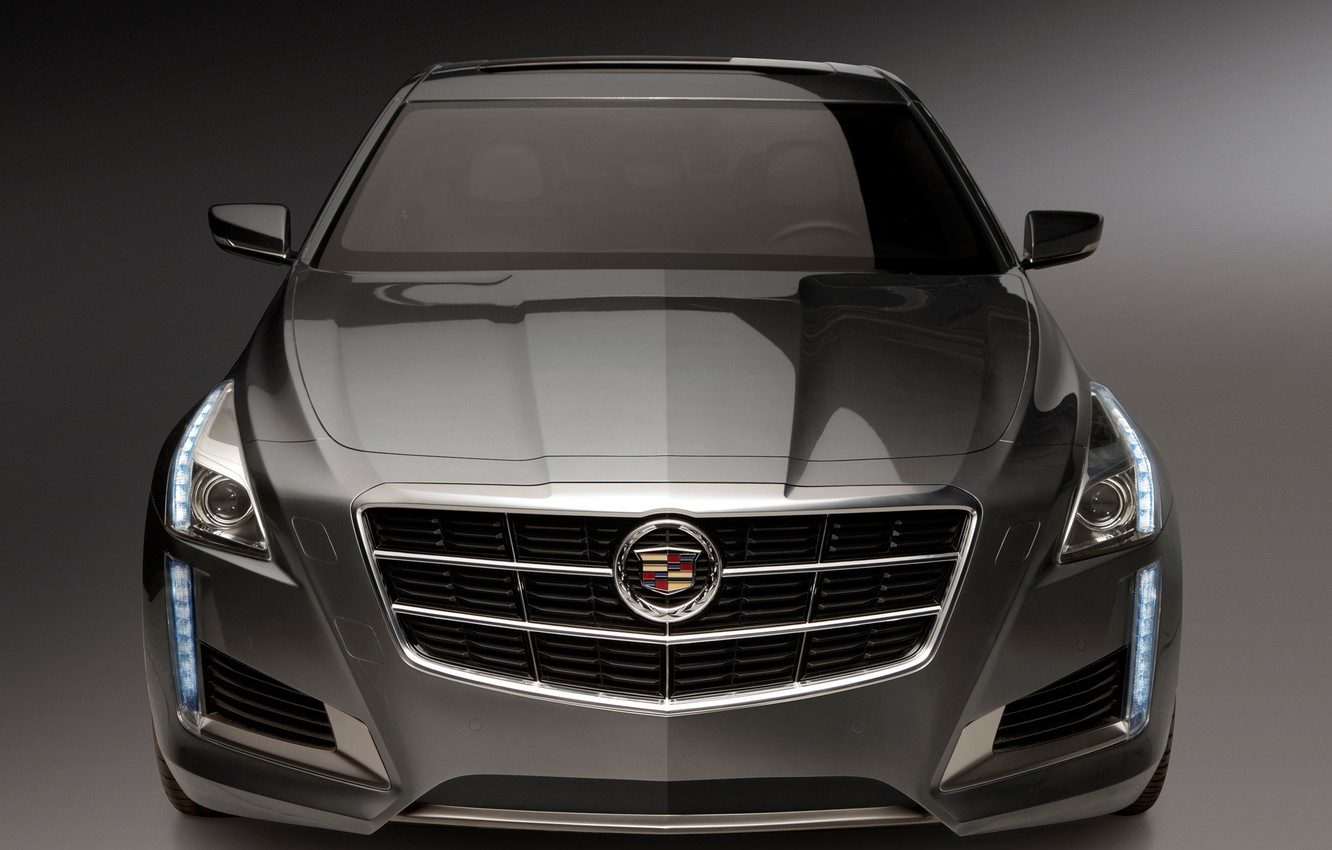 Photo wallpaper machine, Cadillac, the hood, CTS, the front