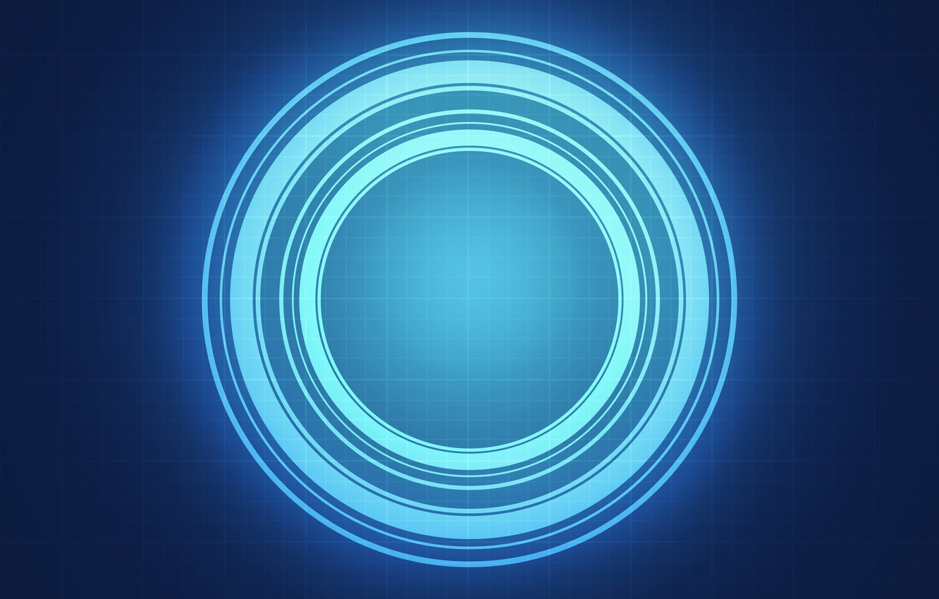 Photo wallpaper energy, light, circles, background, cell