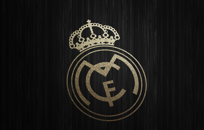 Photo wallpaper football, Spain, Real Madrid CF, gold wallpaper