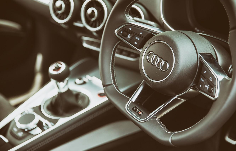 Photo wallpaper Audi, the wheel, salon, Interior, TTS