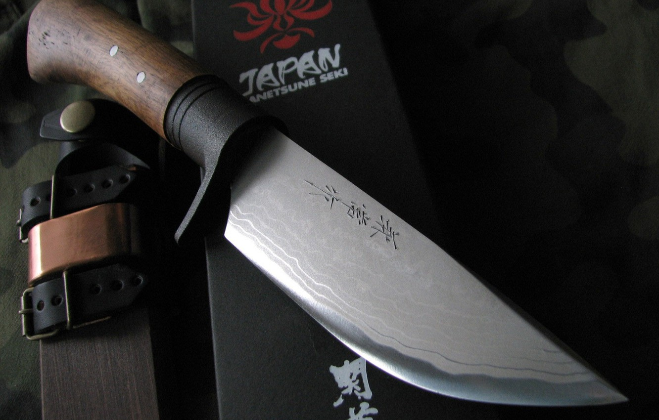 Photo wallpaper Japan, knife, case, edged weapons, rokytka of wood