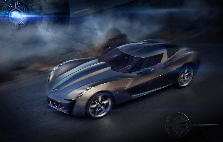 Photo wallpaper speed, the concept, Chevrolet Corvette Stingray