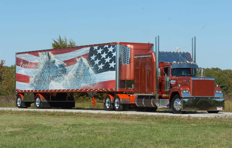 Photo wallpaper custom, truck, mack