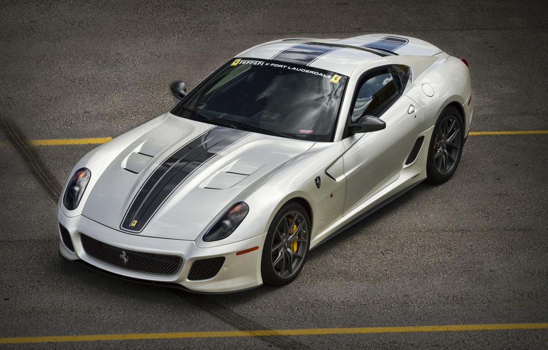 Photo wallpaper grey, Ferrari, silver, Ferrari, 599, GTO, TRP