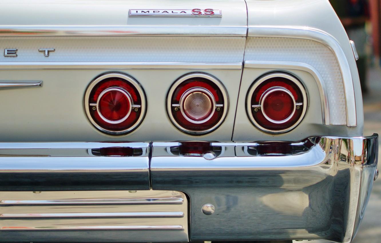 Photo wallpaper machine, lights, Chevrolet impala