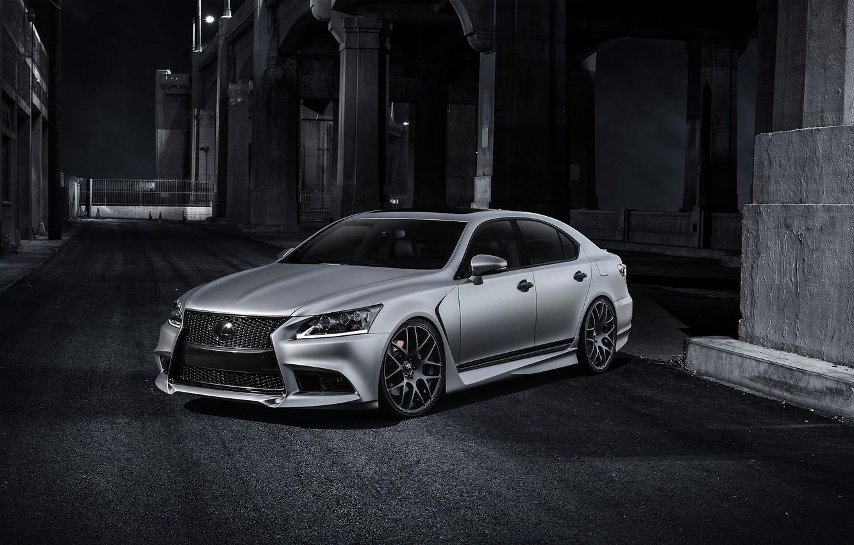 Photo wallpaper Auto, Night, Lexus, Tuning, The hood, Lane, F-Sport, LS 460, Five Ax