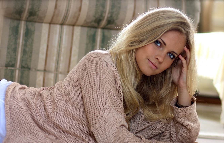 Photo wallpaper girl, blonde, blond, Emily Marie Nereng, white beauty, Emily Marie Nereng