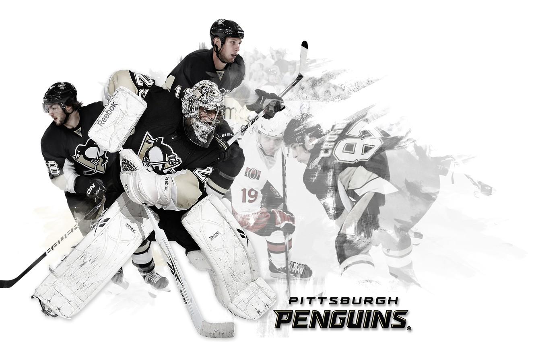 Photo wallpaper hockey, NHL, Pittsburgh penguins