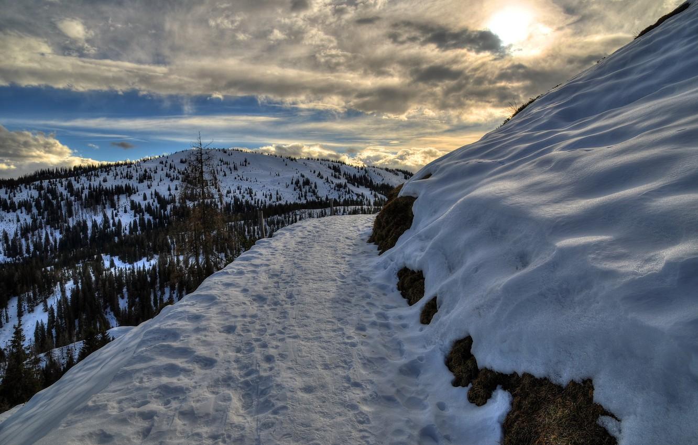 Photo wallpaper snow, mountains, nature, Austria, Salzburg, Mühlbach am hochkönig
