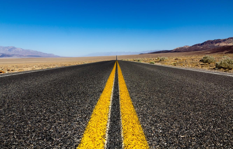 Photo wallpaper road, the sky, nature, markup, desert, road, sky, nature, 2560x1600, dessert, marking