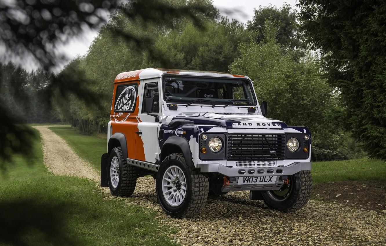 Photo wallpaper background, Land Rover, the front, Defender, Land Rover, Defender, Challenge, Bowler