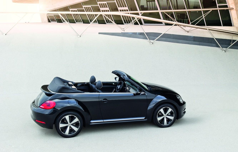 Photo wallpaper beetle, Volkswagen, Beetle, Convertible, 2013, Exclusive