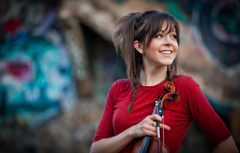Photo wallpaper violin, beauty, violin, Lindsey Stirling, Lindsey Stirling