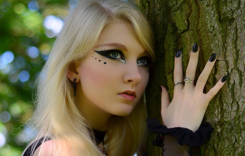 Photo wallpaper Blonde, Look, Maria Amanda, Stock, Romantic Goth