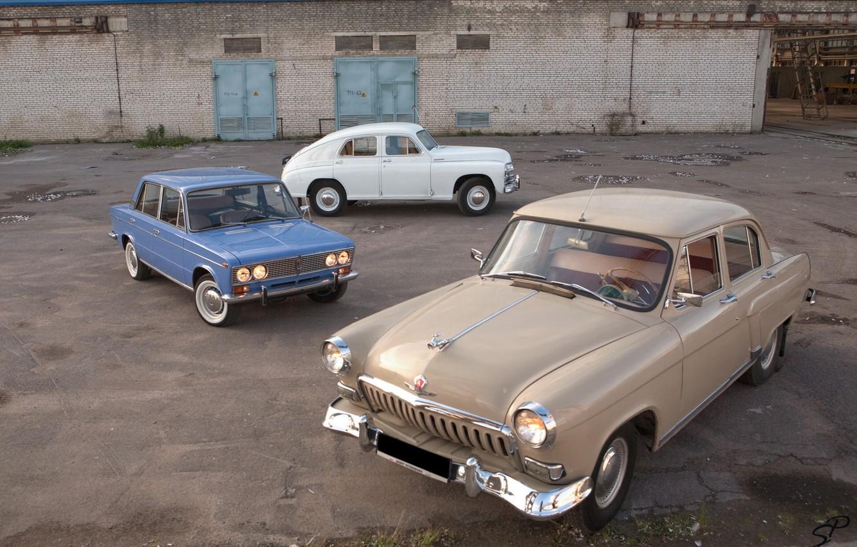 Photo wallpaper machine, retro, Wallpaper, USSR, gas, cars, VAZ