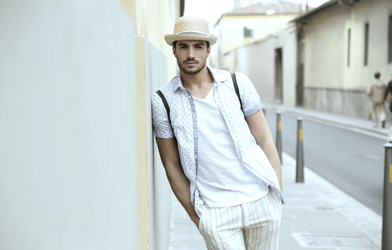 Photo wallpaper look, hat, male, guy, Mariano Di Vaio