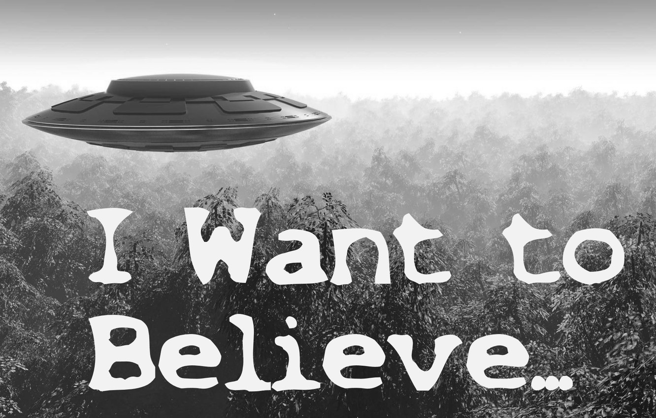 Wallpaper Ufo X Files I Want To Believe Images For Desktop