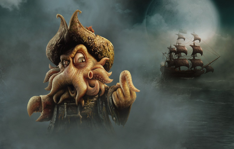 Photo wallpaper sea, ship, hero, pirates of the Caribbean