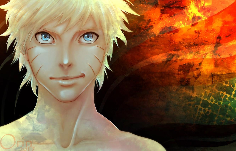 Photo wallpaper blue eyes, naruto, grin, Uzumaki naruto