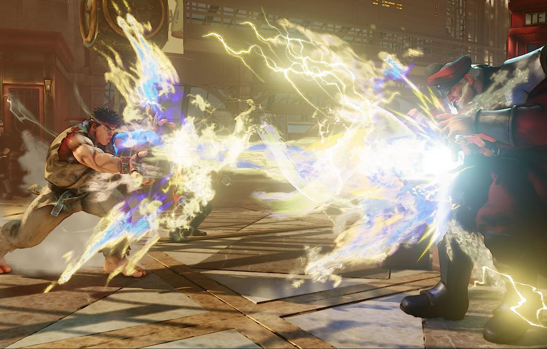 Wallpaper Fighting Ryu Bison Street Fighter V Street Fighter 5