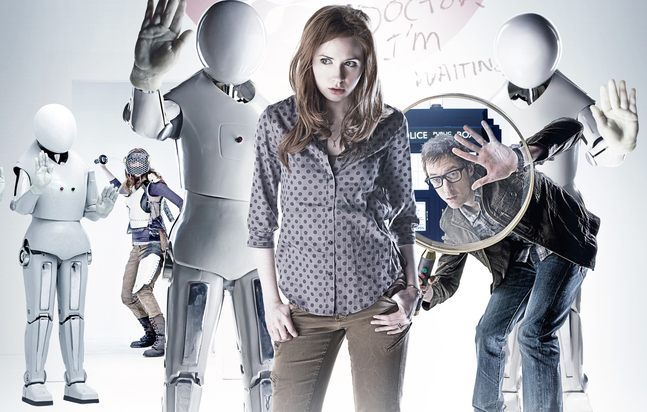 Photo wallpaper robots, the series, Doctor Who, Doctor Who, Amy, Amy Pond, Karen Gillan, Karen Gillan, Amy …