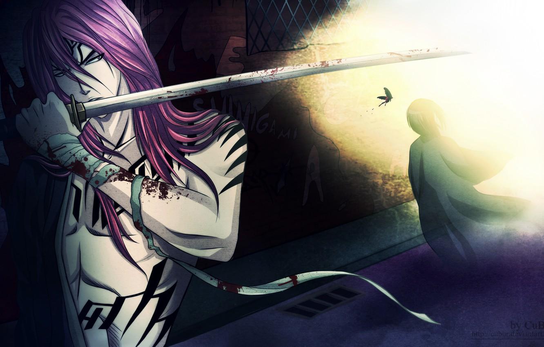 Photo wallpaper look, weapons, sword, tattoo, guy, Bleach, Bleach, art, Shinigami, renji