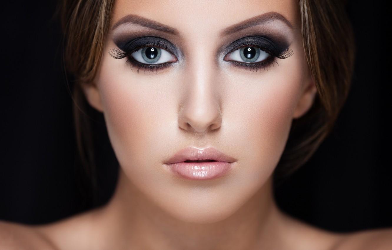Photo wallpaper model, look, makeup