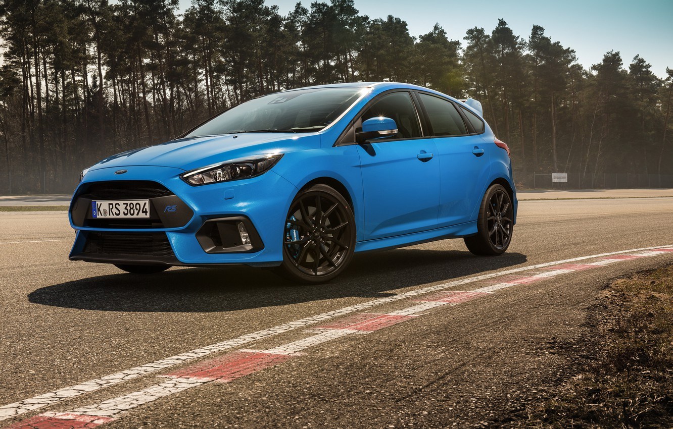 Photo wallpaper ford, blue, focus, track