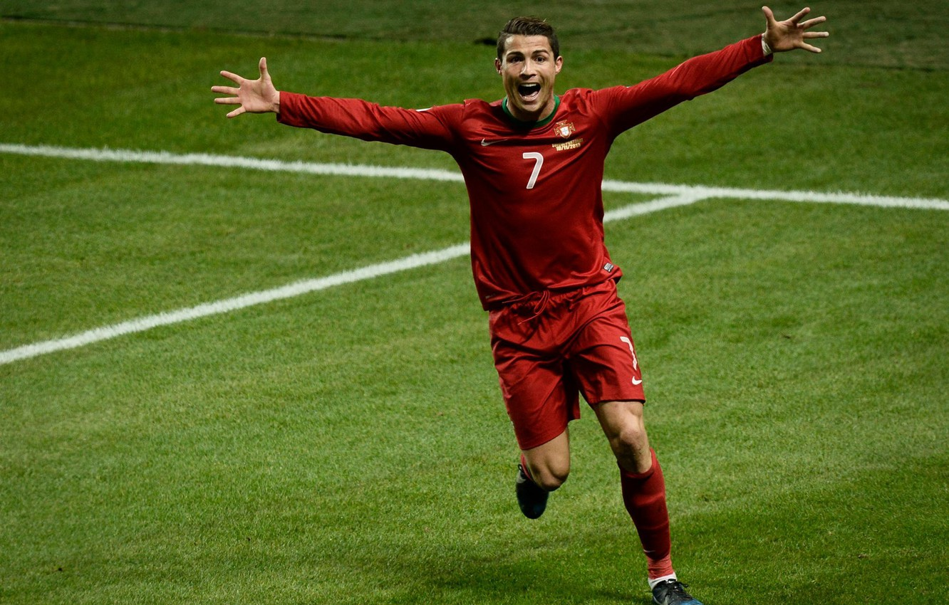Wallpaper Emotions Victory Portugal Cristiano Ronaldo Player Goal Portugal Cristiano Ronaldo Field Images For Desktop Section Sport Download