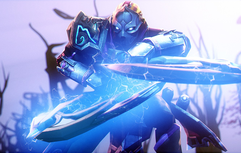 Photo wallpaper rendering, blade, warrior, mask, Dota 2, Anti-Mage