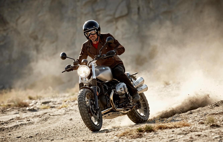 Photo wallpaper BMW, moto, classic, Scrambler, NineT, motorrad