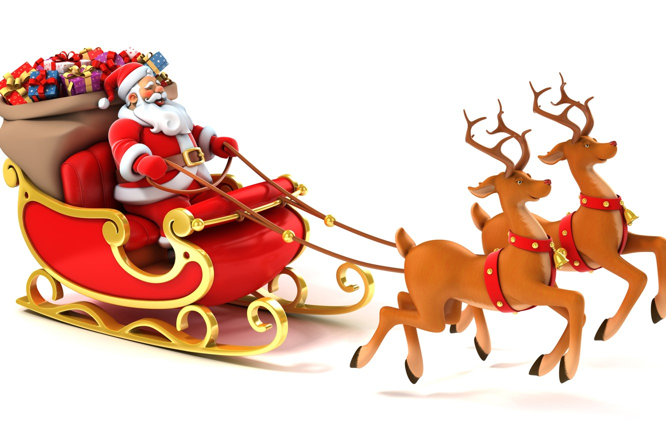wallpaper gifts new year new year deer merry christmas gifts reindeer vector art merry christmas santa claus is santa claus coming santa s sleigh santa s sleigh vector art images for desktop section prazdniki santa claus coming