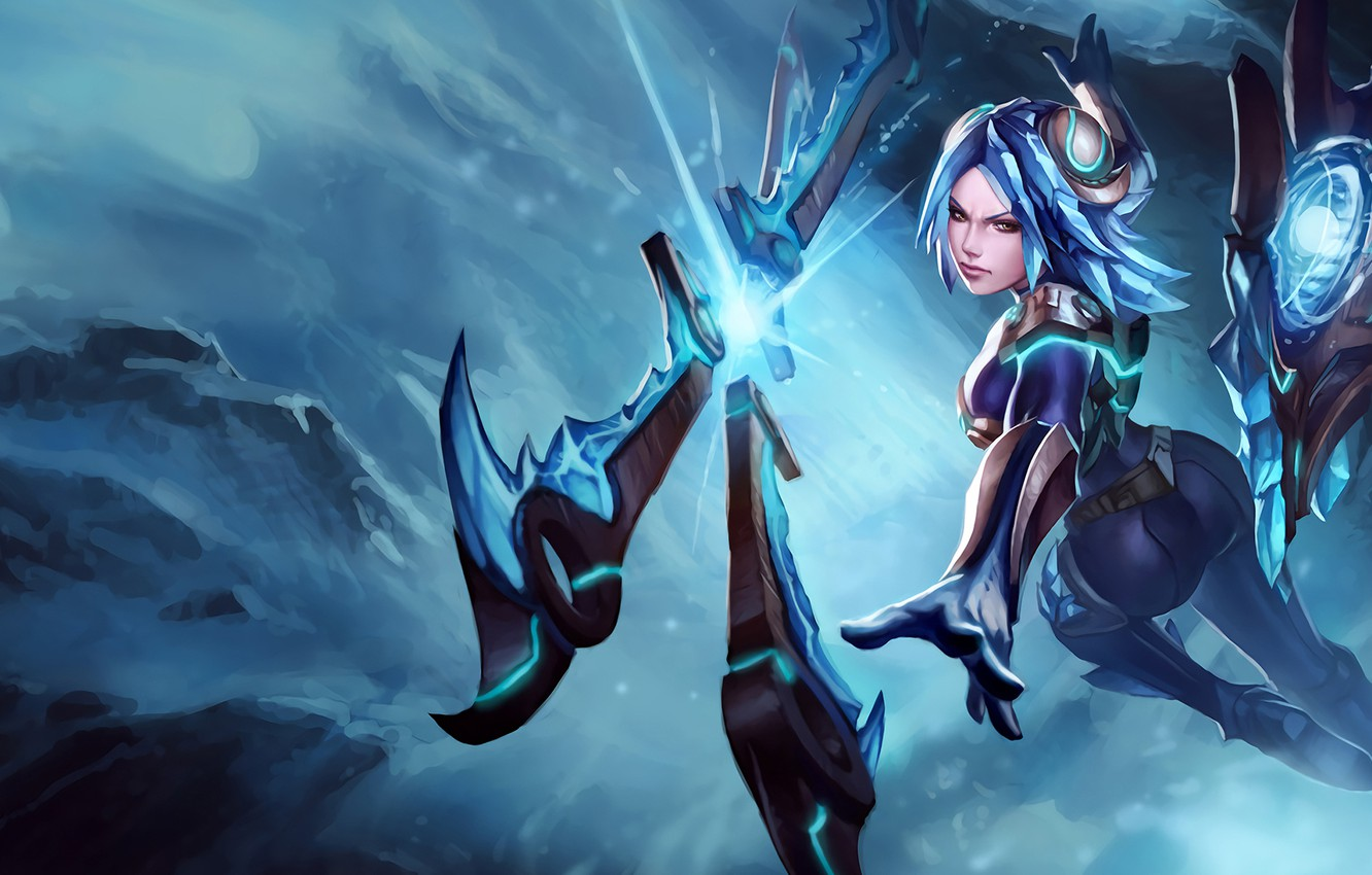 Photo wallpaper girl, art, League of Legends, irelia, Will of the Blades, frostblade