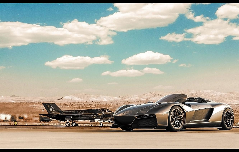 Photo wallpaper The sky, Supercar, F-35, Supercar, 2014, Rezvani, Rezvani Beast
