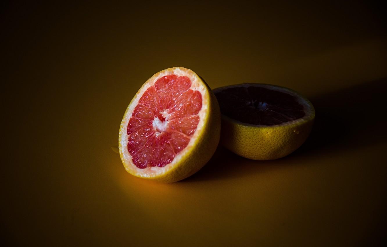 Photo wallpaper fruit, orange, shadow