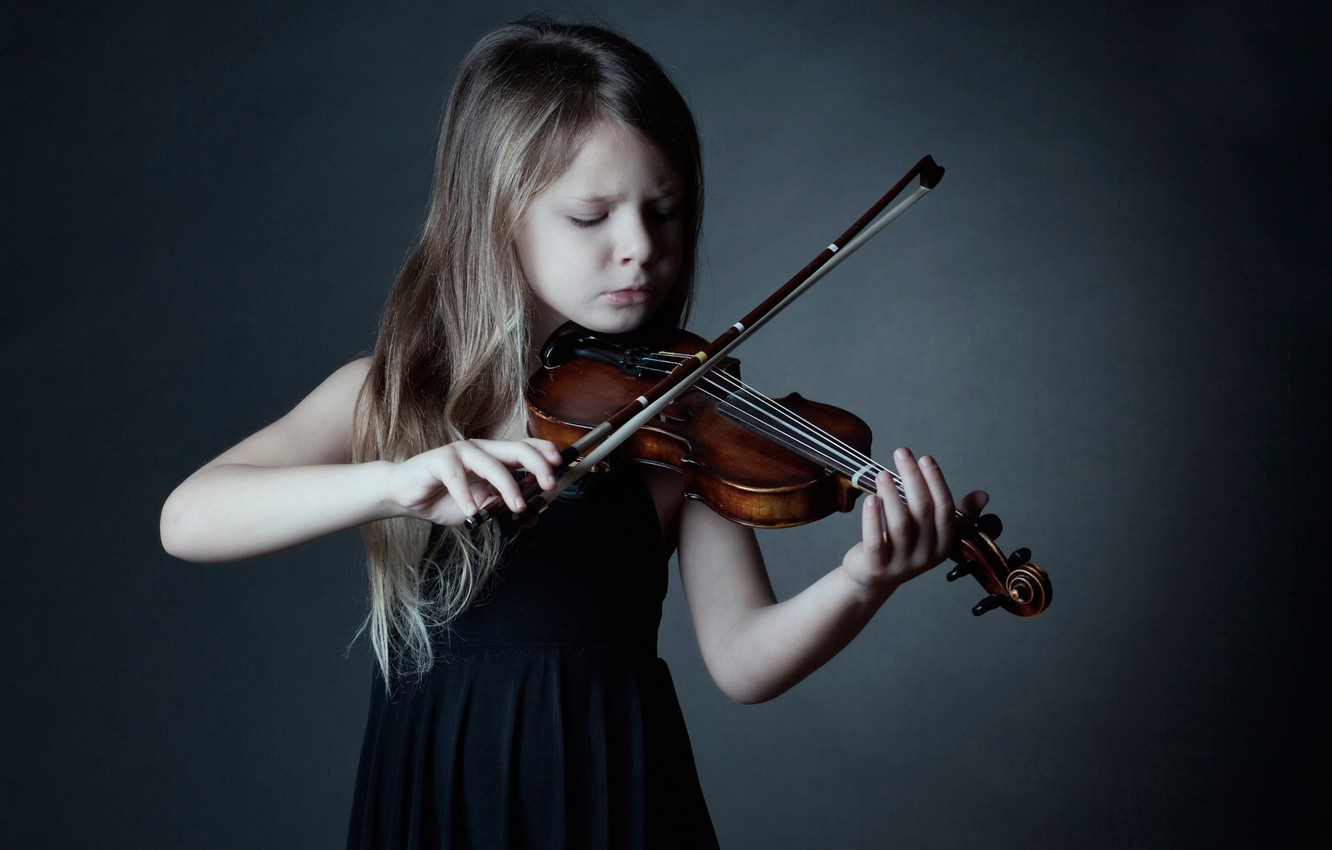 Photo wallpaper violin, the game, girl