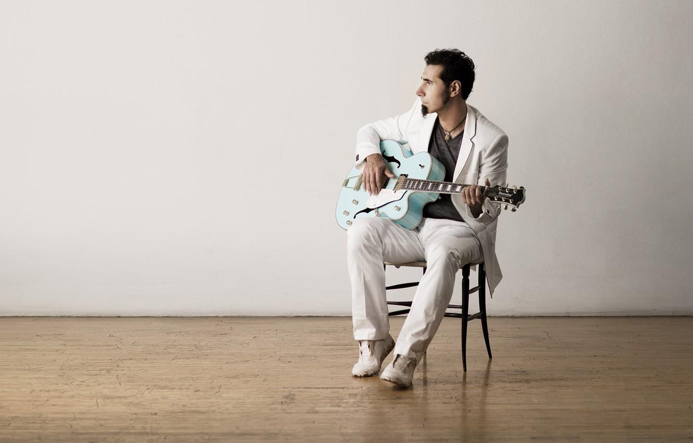 Photo wallpaper guitar, music, musician, singer, Serj Tankian, Alternative, System Of A Down, SOAD, Serj Tankian
