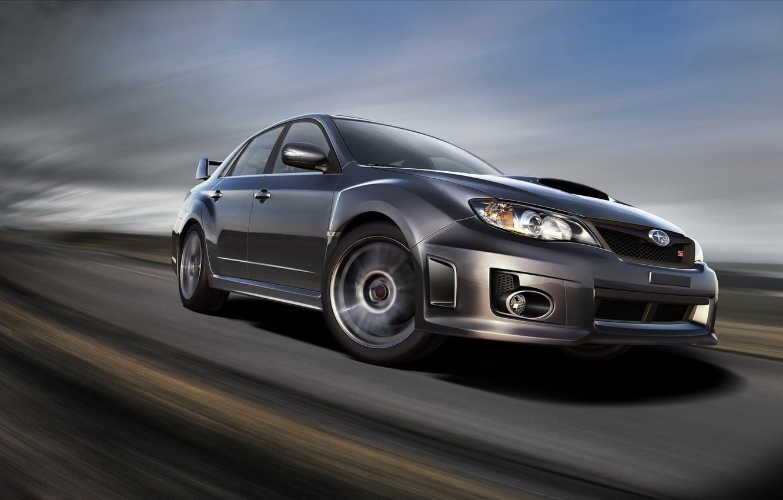 Photo wallpaper road, speed, Subaru, wrx, impreza