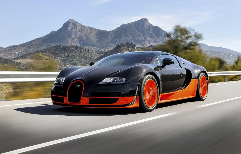 Photo wallpaper Bugatti, Bugatti, Veyron, Veyron, Orange, Speed, Super, Sport, Supercar, Rear