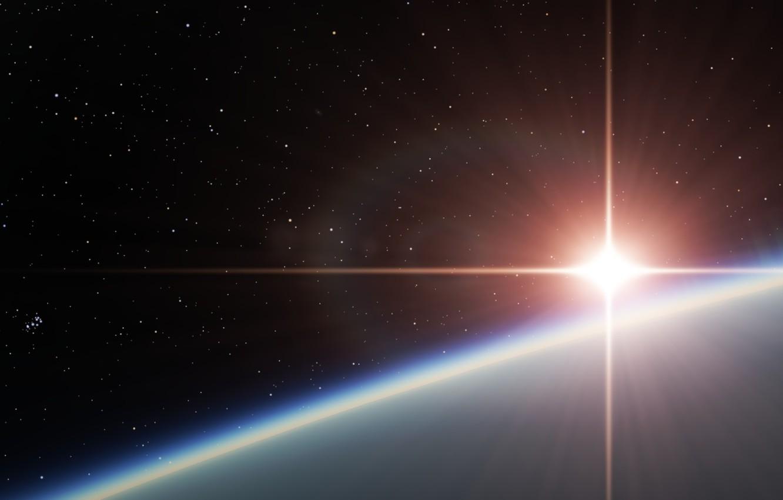 Photo wallpaper star, planet, space, star, planet