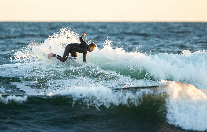 Wallpaper Waves Surfing Splash Surfer Sunlight Spray