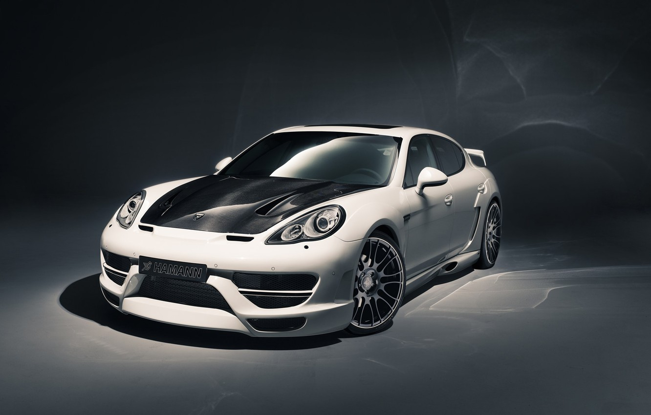 Photo wallpaper white, background, tuning, Porsche, Panamera, Hamann, tuning, the front, Porsche.Panamera, Cyrano