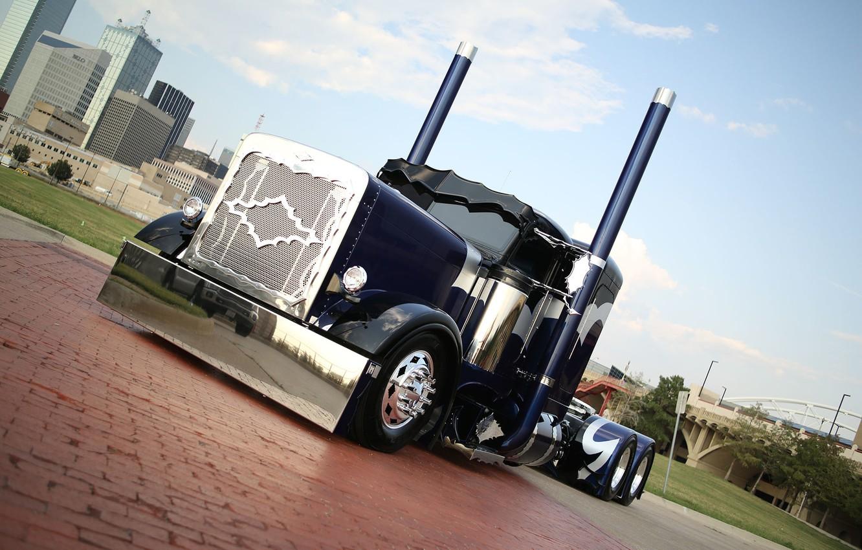 Photo wallpaper truck, custom, truck, peterbilt