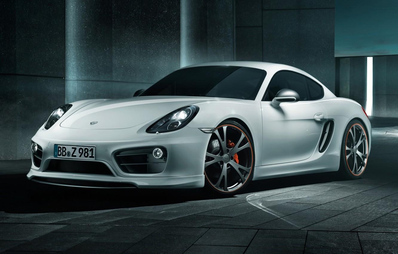 Photo wallpaper tuning, Porsche, Cayman, drives, Porsche, tuning, the front, TechArt, Caiman