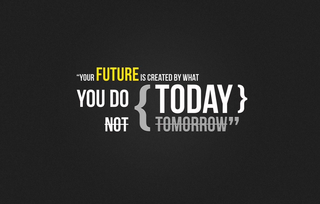 Photo wallpaper Do it now, Your future is created by the fact, Your future is created by …