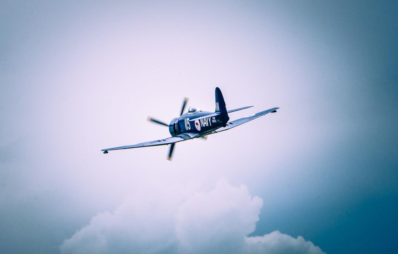 Photo wallpaper the sky, flight, the plane, cloud