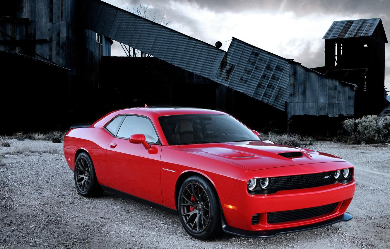 Photo wallpaper Dodge, Challenger, with, Hellcat, SRT, Supercharged, engine, HEMI