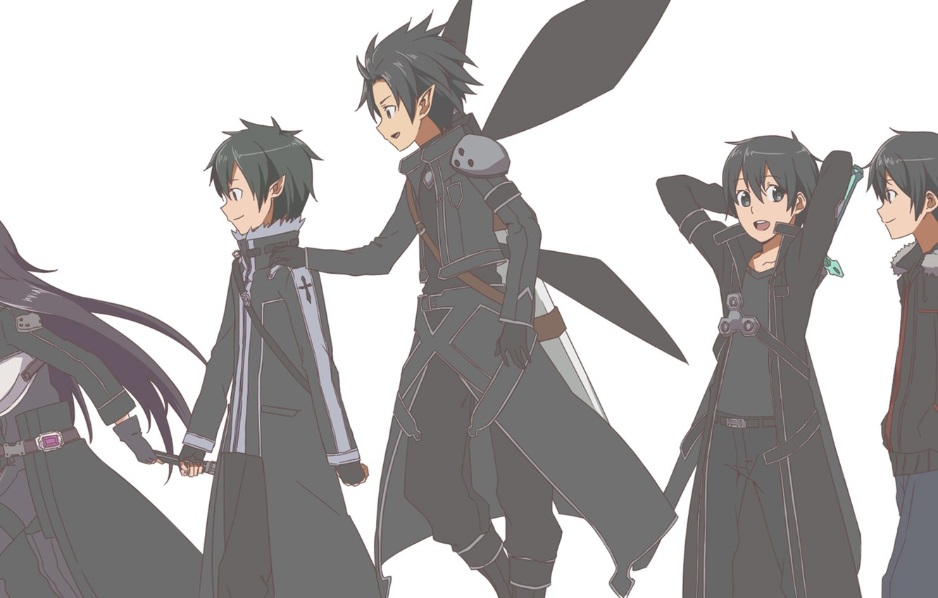 Wallpaper Art Anime Sword Art Online Kirito Sao Ggo Alo