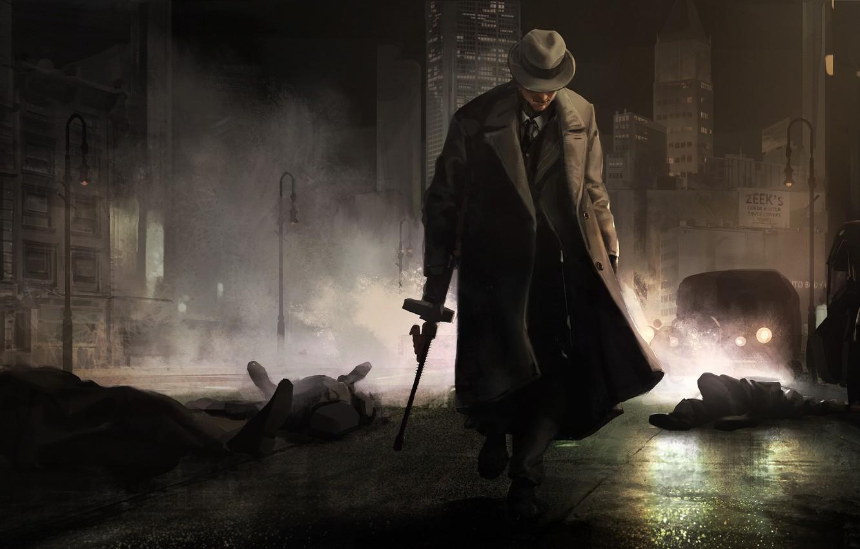 Photo wallpaper night, the city, Godfather, gangster, The godfather, mafia