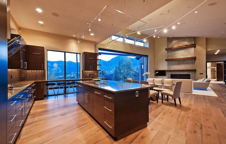 Photo wallpaper design, style, room, Villa, interior, kitchen